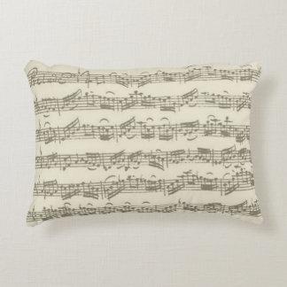 Bach Cello Suite Music Manuscript Accent Pillow
