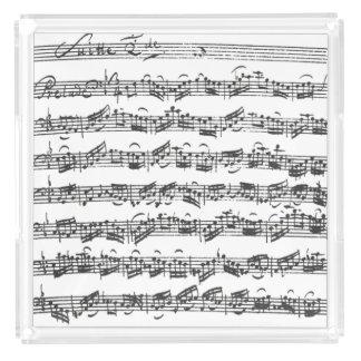 Bach Cello Suite Music Manuscript Acrylic Tray