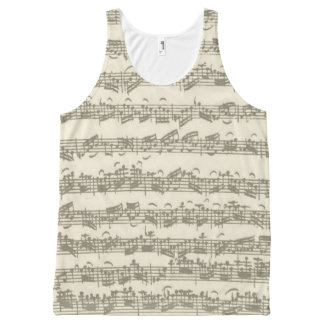 Bach Cello Suite Music Manuscript All-Over-Print Tank Top