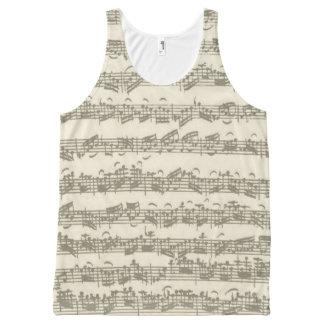 Bach Cello Suite Music Manuscript All-Over Print Tank Top