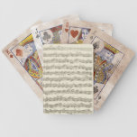 Bach Cello Suite Music Manuscript Bicycle Playing Cards