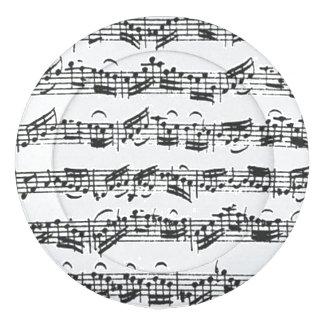 Bach Cello Suite Music Manuscript Button Covers