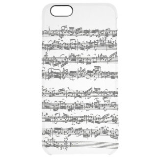 Bach Cello Suite Music Manuscript Clear iPhone 6 Plus Case