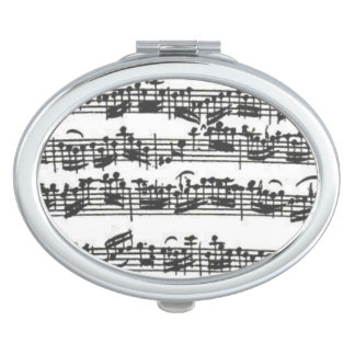 Bach Cello Suite Music Manuscript Compact Mirror