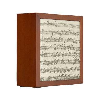 Bach Cello Suite Music Manuscript Desk Organizers