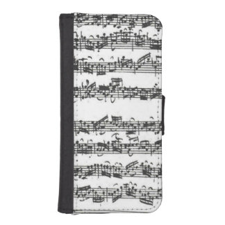 Bach Cello Suite Music Manuscript iPhone SE/5/5s Wallet