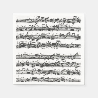 Bach Cello Suite Music Manuscript Napkin