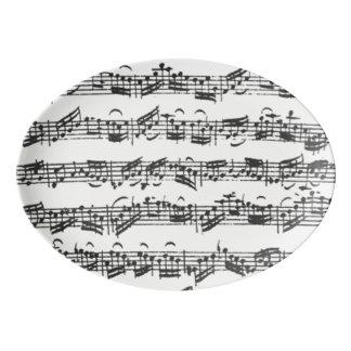 Bach Cello Suite Music Manuscript Porcelain Serving Platter
