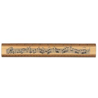 Bach Cello Suite Music Manuscript Ruler
