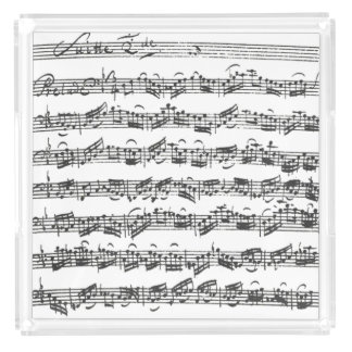 Bach Cello Suite Music Manuscript Serving Tray