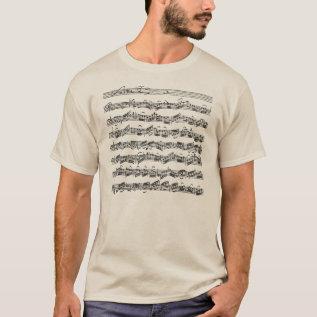 Bach Cello Suite Music Manuscript T-shirt at Zazzle