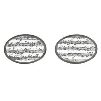 Bach Cello Suite Music Manuscript Cuff Links
