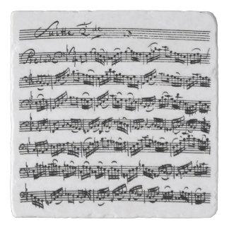 Bach Cello Suite Music Manuscript Trivet