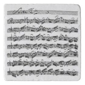 Bach Cello Suite Music Manuscript Trivets