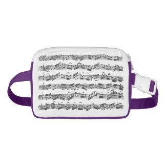 Bach Cello Suite Music Manuscript Waist Bag