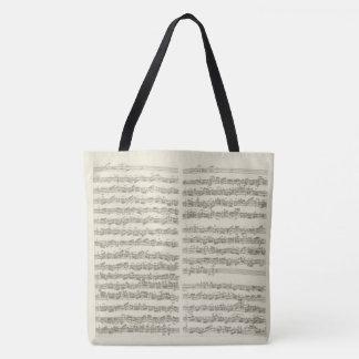 Bach Cello Suite Original Music Notation Tote Bag