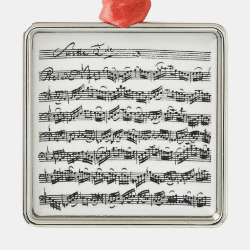 Bach Cello Suite Pendant Ornament