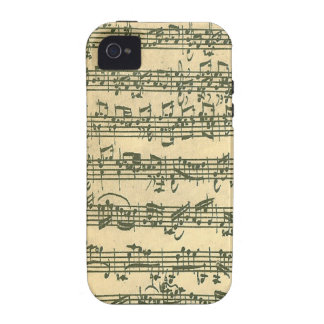 Bach Chaconne Case-Mate iPhone 4 Fundas