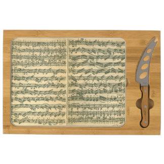 Bach Chaconne Manuscript Cheese Board
