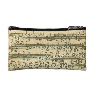 Bach Chaconne Manuscript for Solo Violin Cosmetics Bags