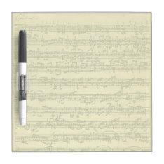 Bach Chaconne Manuscript For Solo Violin Dry Erase Board at Zazzle