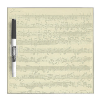 Bach Chaconne Manuscript for Solo Violin Dry Erase Board