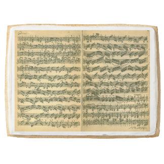 Bach Chaconne Manuscript for Solo Violin Jumbo Shortbread Cookie