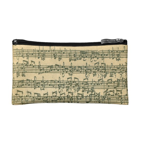 Bach Chaconne Manuscript for Solo Violin Makeup Bag