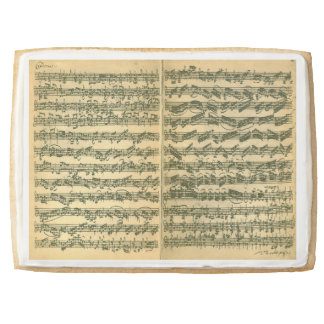 Bach Chaconne Manuscript for Solo Violin Jumbo Cookie