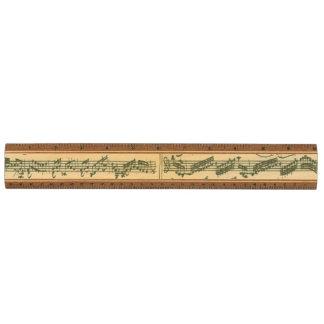 Bach Chaconne Manuscript for Solo Violin Ruler