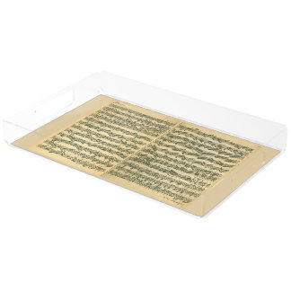 Bach Chaconne Manuscript for Solo Violin Serving Tray
