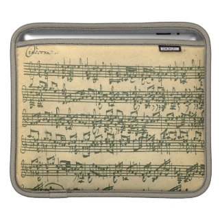 Bach Chaconne Manuscript for Solo Violin Sleeves For iPads
