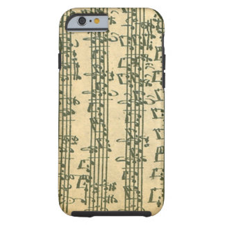 Bach Chaconne Manuscript for Solo Violin Tough iPhone 6 Case