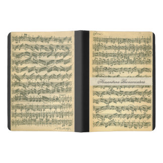 Bach Chaconne Manuscript for Violin Custom Name Extra Large Moleskine Notebook