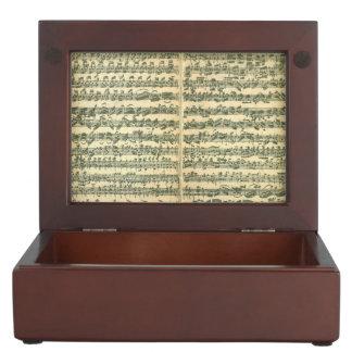 Bach Chaconne Manuscript Keepsake Box