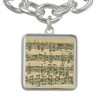 Bach Chaconne Manuscript Charm Bracelet