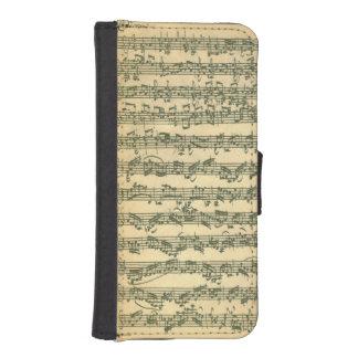 Bach Chaconne Manuscript Wallet Phone Case For iPhone SE/5/5s