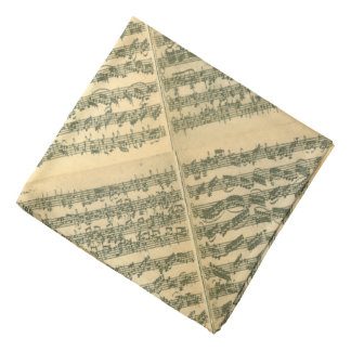 Bach Chaconne Manuscript Bandana