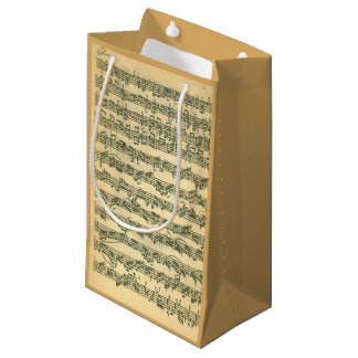 Bach Chaconne Music Manuscript for Solo Violin Small Gift Bag