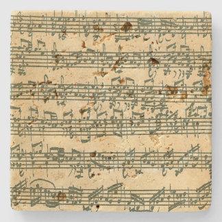 Bach Chaconne Music Manuscript for Solo Violin Stone Coaster
