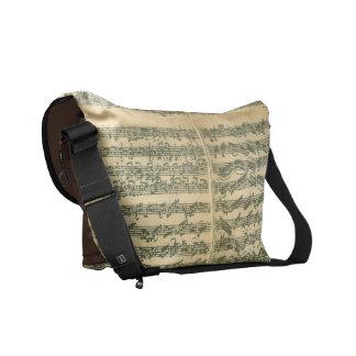 Bach Chaconne Music Manuscript Messenger Bag