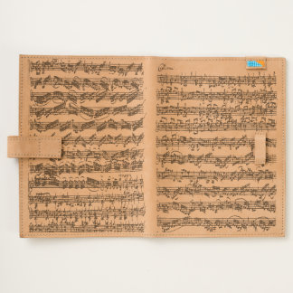 Bach Chaconne Original Music Manuscript Journal