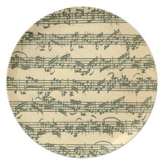 Bach Chaconne Plato Para Fiesta