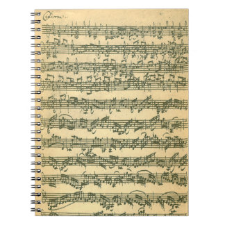 Bach Chaconne Spiral Notebook