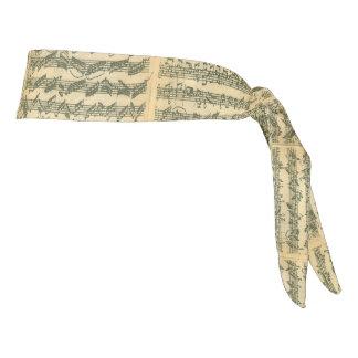 Bach Chaconne Violin Music Manuscript Tie Headband