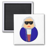 Bach Classical Music Composer Funny Gift 2 Inch Square Magnet