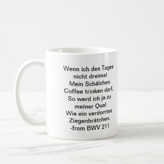 Bach Coffee Mug - German