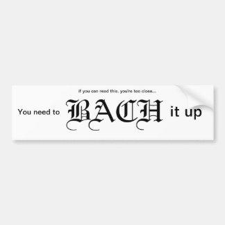 Bach él encima de pegatina para el parachoques pegatina para auto