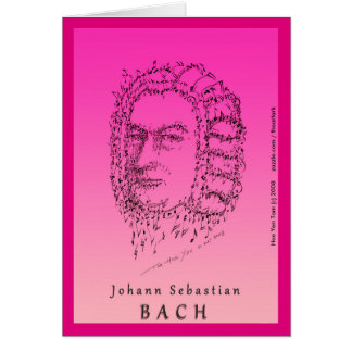 Bach Face the Music Card
