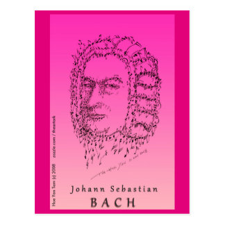 Bach Face the Music Postcard